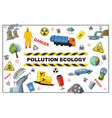flat ecology pollution concept vector image vector image