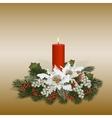 Floral decorative composition vector image