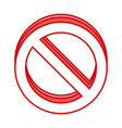 forbidden symbol icon vector image
