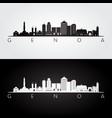 genoa skyline and landmarks silhouette vector image vector image
