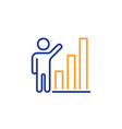 graph line icon column chart sign vector image