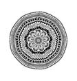Graphic Isolated Circle Mandala Design vector image vector image