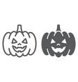 halloween pumpkin line and glyph icon vector image vector image