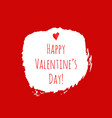 happy valentines day red watercolor texture vector image vector image