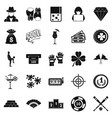 hazard icons set simple style vector image vector image