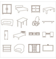 home furniture types outline icons set eps10 vector image vector image
