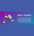 host events two glasses of wine vector image vector image