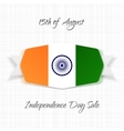 India Independence Day realistic Label vector image vector image
