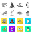 isolated object of nature and fun sign set of vector image