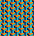 Isometric 3d shapes seamless pattern background vector image vector image