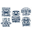 lobster and crab t-shirt prints with fishnet vector image