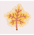 maple leaf outline stroke icon vector image vector image