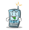 money mouth phone character cartoon style vector image vector image