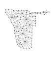 namibia map of polygonal mosaic lines network ray vector image vector image