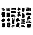 painted grunge shapes black ink brush strokes vector image vector image