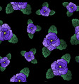 pansy seamless pattern vector image vector image