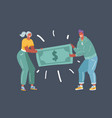 people fighting over money vector image vector image