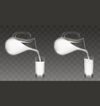 pouring milk from jug into glass vector image vector image