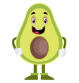 ready avocado on white background vector image vector image