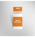 Realistic product package box mock-up with hang vector image vector image