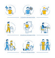 rehabilitation human man icons for vector image