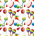 Seamless background with many toys vector image vector image
