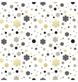 Seamless white christmas wallpaper with black and vector image