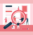 search concept - flat design style vector image vector image