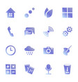 set of icons for standard applications original vector image vector image
