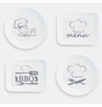 set of plates on a white background vector image vector image