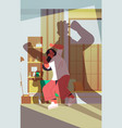 shadow angry husband punching and hitting wife vector image vector image