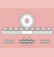 sprocket wheel and pin rack pin gear drive vector image vector image