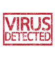 stamp text virus detected vector image