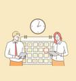 time management multitasking teamwork business vector image