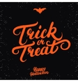 Trick or treat hand written lettering vector image