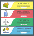 vacation and travel banner templates set vector image