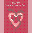 valentine heart love postcard for happy mother s vector image vector image
