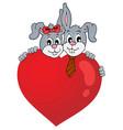 valentine theme image 2 vector image vector image