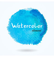 watercolor bright blue element vector image