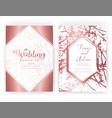 wedding invitation card save date wedding vector image vector image