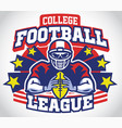 skull mascot of football player vector image