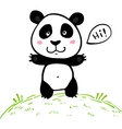 Little cute doodle drawing panda vector image