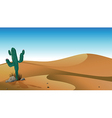 A cactus in the desert vector | Price: 1 Credit (USD $1)
