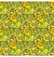 Abstract yellow floral seamless pattern vector image vector image