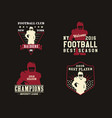 american football player team badges championship vector image vector image