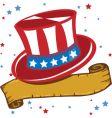American patriot hat vector image vector image