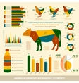 Animal husbandry infographics flat design elements vector image vector image