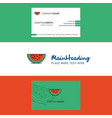 beautiful water melon logo and business card vector image