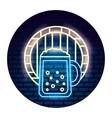 beer glass barrel beverage alcohol emblem vector image vector image