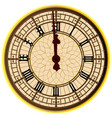 big ben midnight clock face vector image vector image